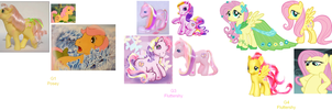 Fluttershy's evolution by AdolfWolfed4Life
