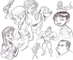 Sketchbook doodles again by tombancroft