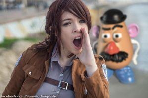 Sasha Braus and Mr. Potato Head by Idontevencosplay