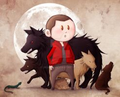 Stiles and the pack by ukialek