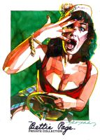 Bettie Page Driving Lesson by markmchaley