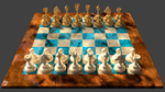 3d Chess Board Design, white player view by 8DFineArt