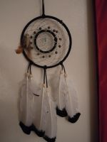 Double ring dream catcher by AJ-anba17