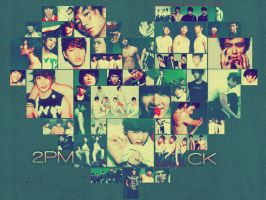 2PM CK Heart Wallpaper by o0oxangelo0o