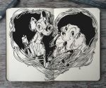 #147 Lady and the Tramp by 365-DaysOfDoodles
