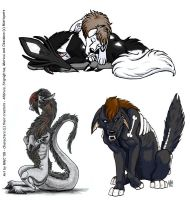 Misticpets - 3 coms by raptorwolfchick