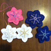 Snowflake Ornaments. by marssetta