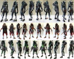 All Predators in Full 360 View by AtomiccircuS