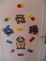 Hama Beads - Dr Mario by acidezabs