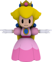 Paper Princess Peach :WIP 2 with Texture: by Luigimariogmod