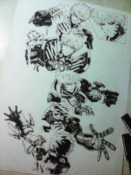 One Punch Man, Genos WIP by edcarrascal