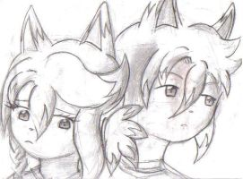 Kaleb and Bell by OctoberReign