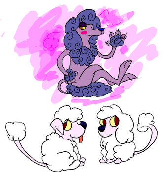 Fakemon: Powderpup and Rappochini by whatpipeswhy