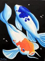 Yin Yang Koi Fish by DragonessDeanna
