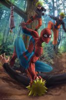 Spider-Man vs Naruto by Adyon