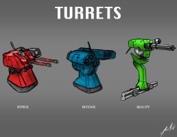 Turret Bots by KevinMassey