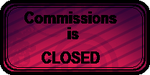 COMMISSIONS is CLOSED (art status stamp) by gigifeh