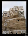 "Stone House "" Yemen "" by Kurenai-3O"