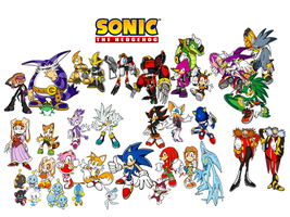 Sonic and his friends logo by 9029561