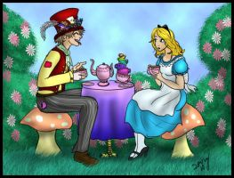 Tea with the Mad Hatter by Captain-Savvy