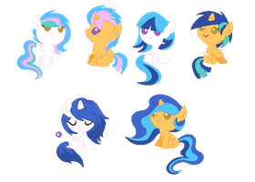 CelestiaXFlash ship adopts (CLOSED) by Monster-Drool