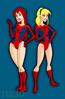 Mary Jane and Gwen by TULIO19mx
