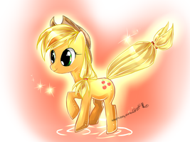 Applejack my little pony by AquaGalaxy