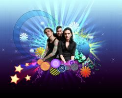 Placebo colourful wallpaper by DittyDots