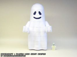 plastic+ papercraft LEGO Ghost by ninjatoespapercraft
