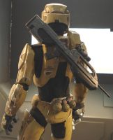 Halo master chief back view by redner