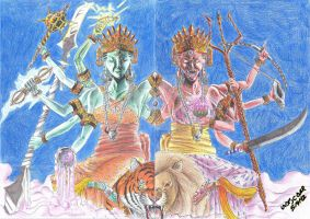THE TEN WEAPONS OF DURGA by UNDISCOVER-art