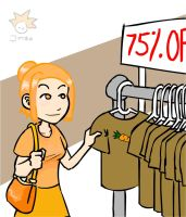 orange girl goes shopping by soursprite
