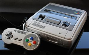 Custom metallic silver SNES with cartridge slo by Zoki64