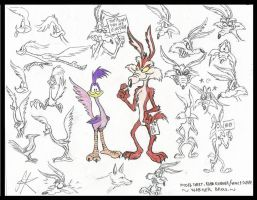 My take on Wile E Coyote and Road Runner by devilkais