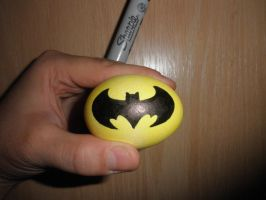 Batman Egg by JohnVichlenski