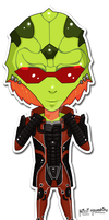 Mass Effect Chibis: Thane Alt. by Missi-Moonshine