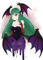 Morrigan redraw(?) by TacoheadShark