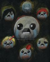 Binding of Isaac Artwork - Personality Disorder by GrimGary