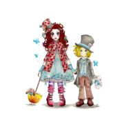 Alice and Hatter's children by Navajo-girl