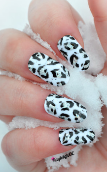 Snow Leopard Nail Art by KayleighOC