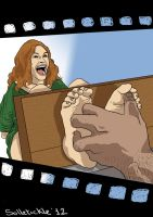 Julia Roberts tickled by Mr. Bighands by solletickle