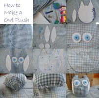 How to make a owl plush by Muffinseatfood