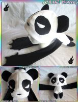 Panda Noms Plushie Hat by AnimeNomNoms