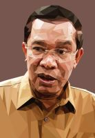 Hun Sen by FREELANCEDESIGNPNH