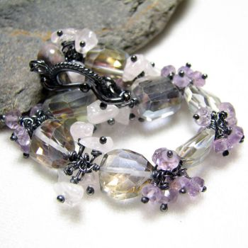 Romantic pastel colours bracelet by Astukee