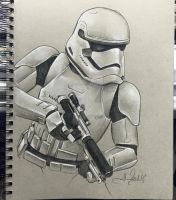 First Order Stormtrooper Sketch by AlexBuechel