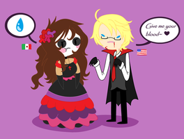 .:Day 1:HaLlOwEeN VS DiA dE mUeRtOs:. by oOoEsme-ChaNoOo