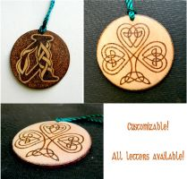 CELTIC CROSS 2 two sided key chain with monogram by YANKA-arts-n-crafts