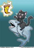 Shark week meets black cat day Color by MaryBellamy