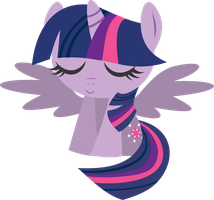Chibi Twilight sparkle alicorn by INKandMYSTERY